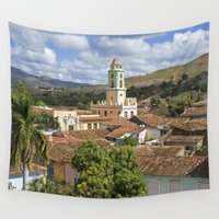 cuba Wall Tapestries featuring Trinidad, Cuba by Parrish