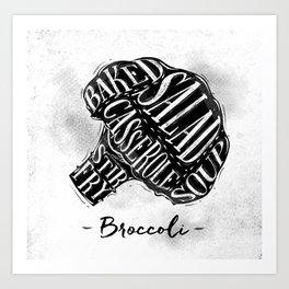 Meat_animals_Broccoli Art Print