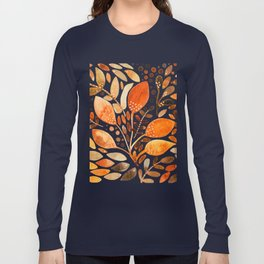 Autumn watercolor leaves Long Sleeve T-shirt