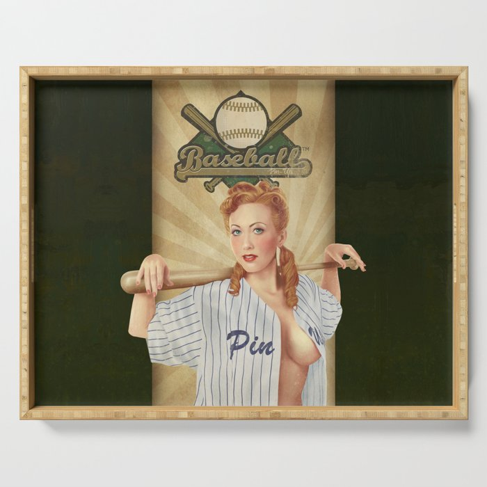 VINTAGE GIRLS - Baseball Serving Tray