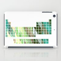 periodic table iPad Cases featuring Periodic Table, Pixilated Color Blocks by kltj11