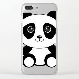 Cute panda bear Clear iPhone Case