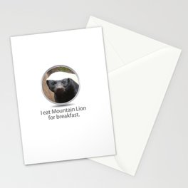 I eat Mountain Lion for breakfast. -OS XI Honey Badger Stationery Cards