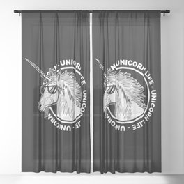 Unicorn Life Sheer Curtain