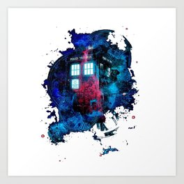 Time And Space Mist Tardis Doctor Who Art Print