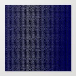 Binary Blue Canvas Print