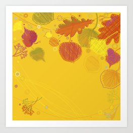 Autumn Doodles Art Print