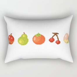 Fruits pixel art | Apple Pear Orange Cherry Peach | Version 2 Rectangular Pillow