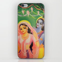 The Divine Couple - Radha and Krishna iPhone Skin