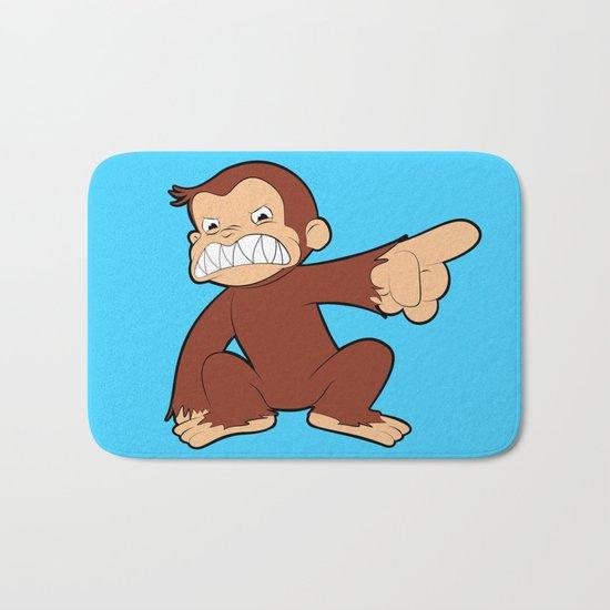 Furious George Funny Monkey Cartoon Animal Bath Mat