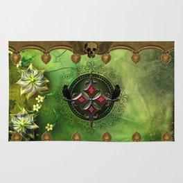 Wonderful gothic design with cross Rug
