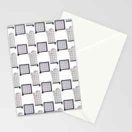 Oven Glove and Pot Mitt Holder Polka Dot Pattern Stationery Cards
