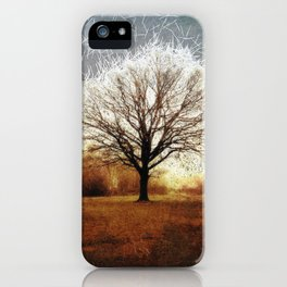 Winter Tree on Tooting Common iPhone Case