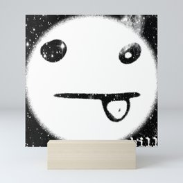 Silly Face in Space Mini Art Print