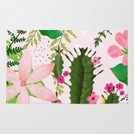 pink desert flowers Rug