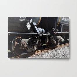 Trains Upon The Rails Metal Print