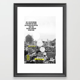 """The Only Living Boy in New York"" by Simon & Garfunkel Framed Art Print"