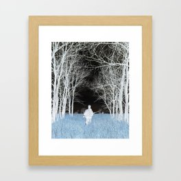 Man Lost In Nature Framed Art Print