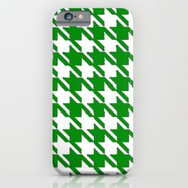 Hounds Tooth Green & White iPhone Case