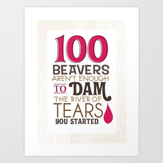 river of tears Art Print