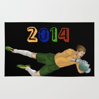 brazil Area & Throw Rugs featuring Brazil 2014 by Lost Link Art