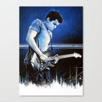 john mayer Canvas Prints featuring John Mayer Blues by ChrisGreavesCreative