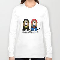 dogs Long Sleeve T-shirts featuring dogs by mark ashkenazi