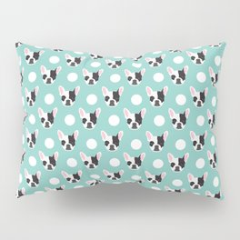 French Bulldog pattern polka dogs dog head funny dog meme cute gift for a dog lover frenchie owner Pillow Sham