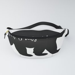 Great Smoky Mountains Black Bear Design Fanny Pack