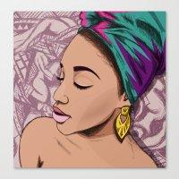 mcfreshcreates Canvas Prints featuring ADRIENNE by McfreshCreates