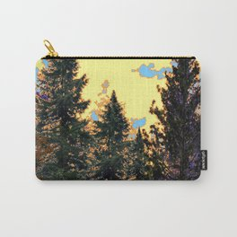 SUNNY DAY PINE TREES FOREST BROWN ART Carry-All Pouch