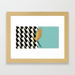 Parrot Pattern Framed Art Print
