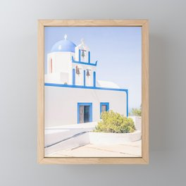 466. Church on the Top, Santorini, Greece Framed Mini Art Print