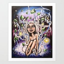 Shroom Lady Art Print