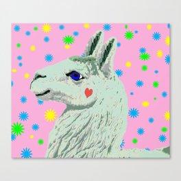 Lucky Llama Canvas Print