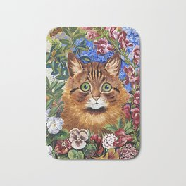 Louis Wain's Cats - Cat In the Garden Bath Mat