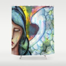 Crying Angel Shower Curtain
