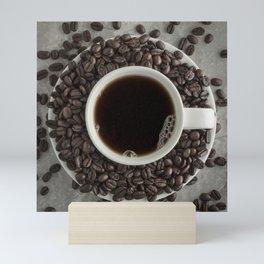 Coffee Cup and Beans Mini Art Print