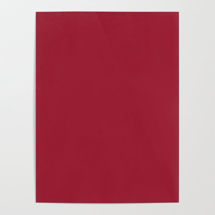 Chili Pepper Red Color Poster