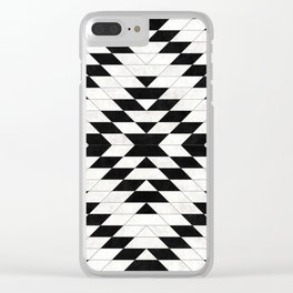 Urban Tribal Pattern No.15 - Aztec - White Concrete Clear iPhone Case