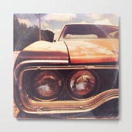 Rusty And Blue - America As Album Art Metal Print