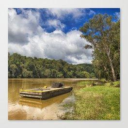 Pontoon on the Barron River Canvas Print