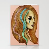 ultraviolence Stationery Cards featuring Ultraviolence by Christina Dedic