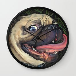 Pugalicious Wall Clock