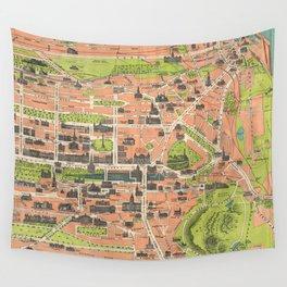 Vintage Map of Edinburgh Scotland (1935) Wall Tapestry
