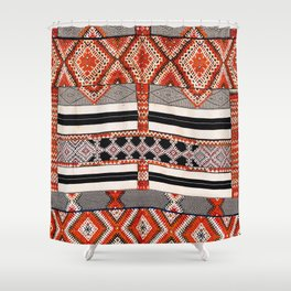 Ait Ouaouzguite South Morocco North African Rug Print Shower Curtain