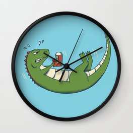 Dinosaur Shoes Wall Clock