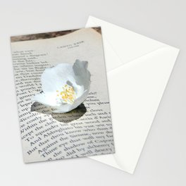Flowers and the Canto Stationery Cards
