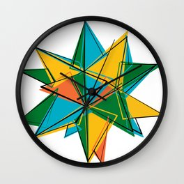 Abstract modern polygonal form Wall Clock