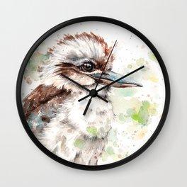 A Kookaburras Gaze Wall Clock
